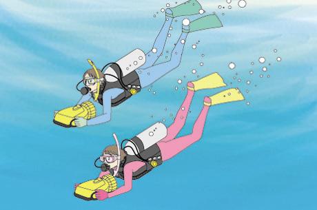 水中スクーターコース - 潜水本...